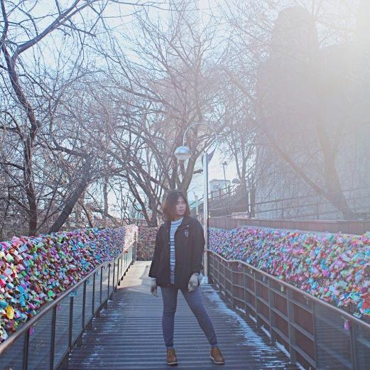 Photo taken at the Love Locks in N Seoul Tower.