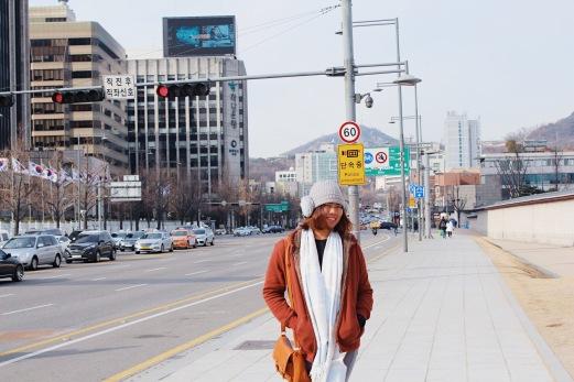 Photo taken in front of Gyeongbokgung Palace.