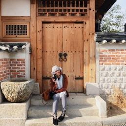 Photo taken at Bukchon Hanok Village.