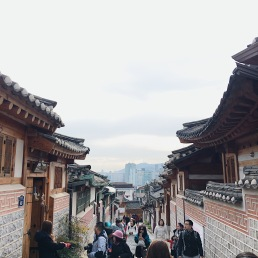 Photo taken at Bukchon Hanok Village.