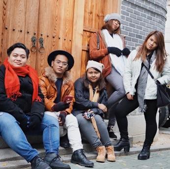Group photo at Bukchon Hanok Village.