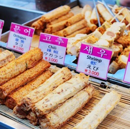 Korean street food.