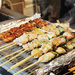 Korean skewers.